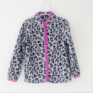OSH KOSH Leopard Fleece Jacket Size 5